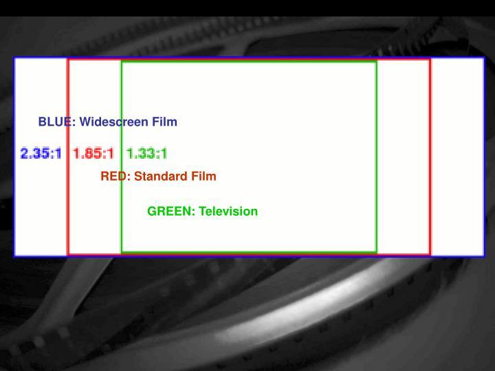 BLUE: Widescreen Film