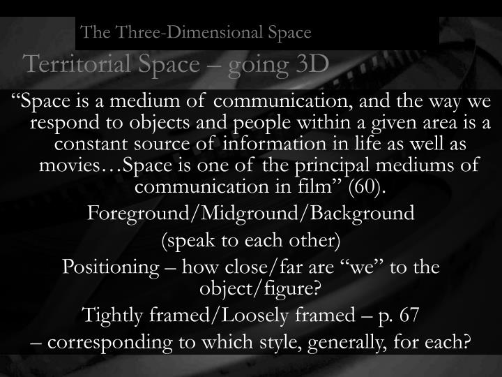 The Three-Dimensional Space
