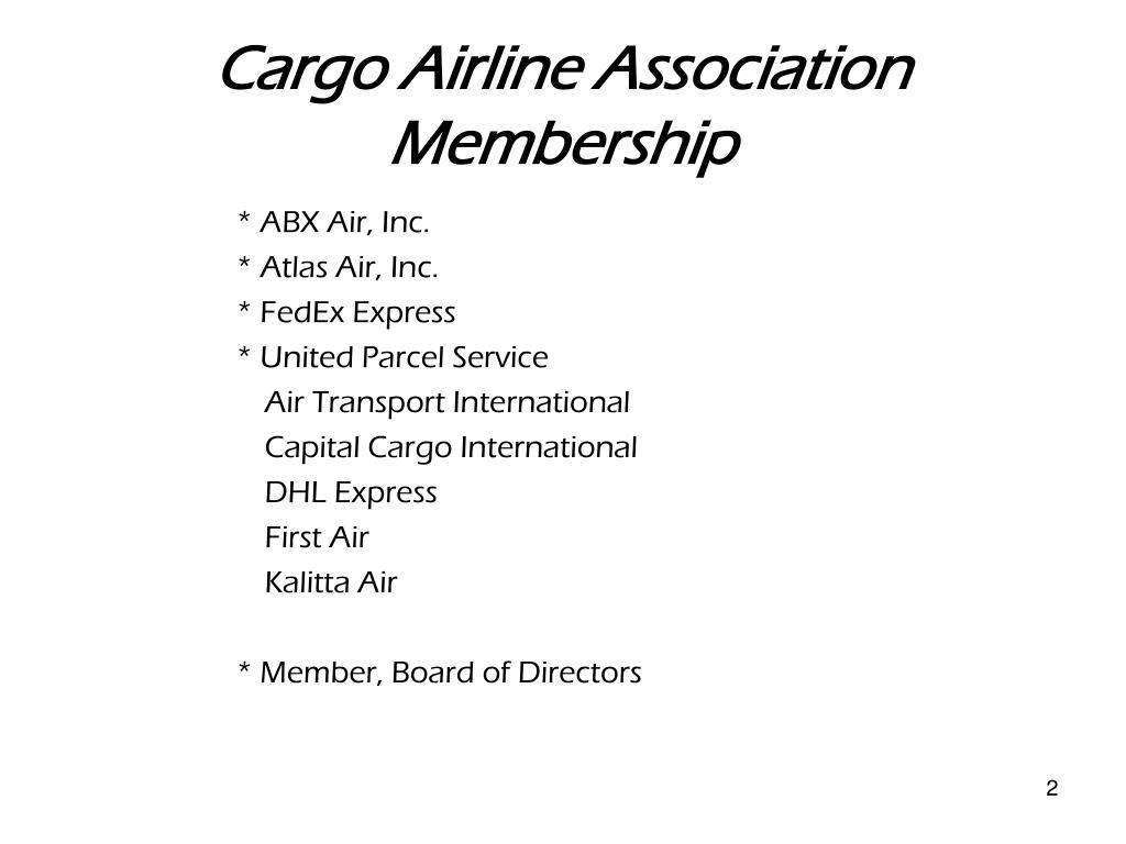 Cargo Airline Association Membership