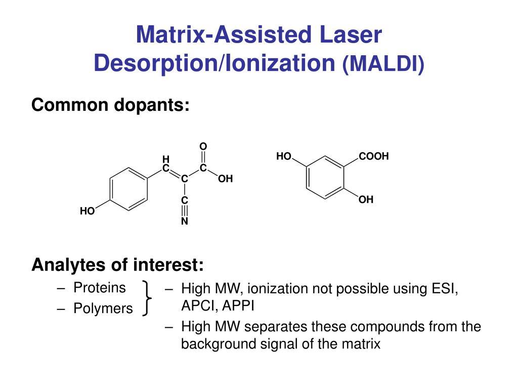 Matrix-Assisted Laser Desorption/Ionization