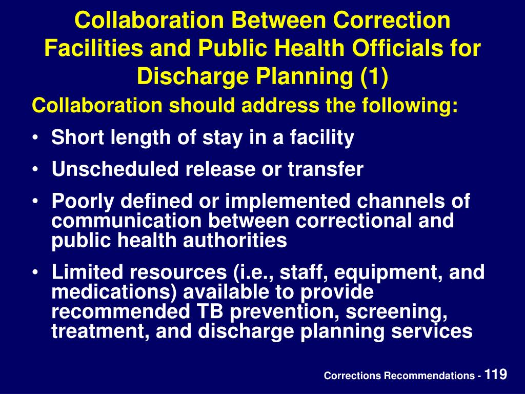 Collaboration Between Correction Facilities and Public Health Officials for Discharge Planning (1)