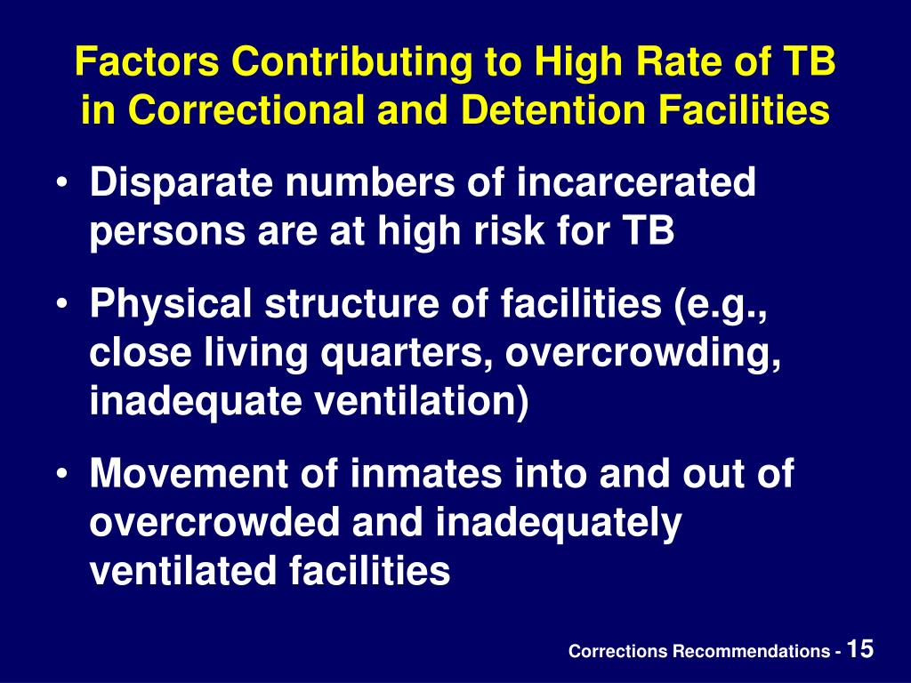 Factors Contributing to High Rate of TB in Correctional and Detention Facilities