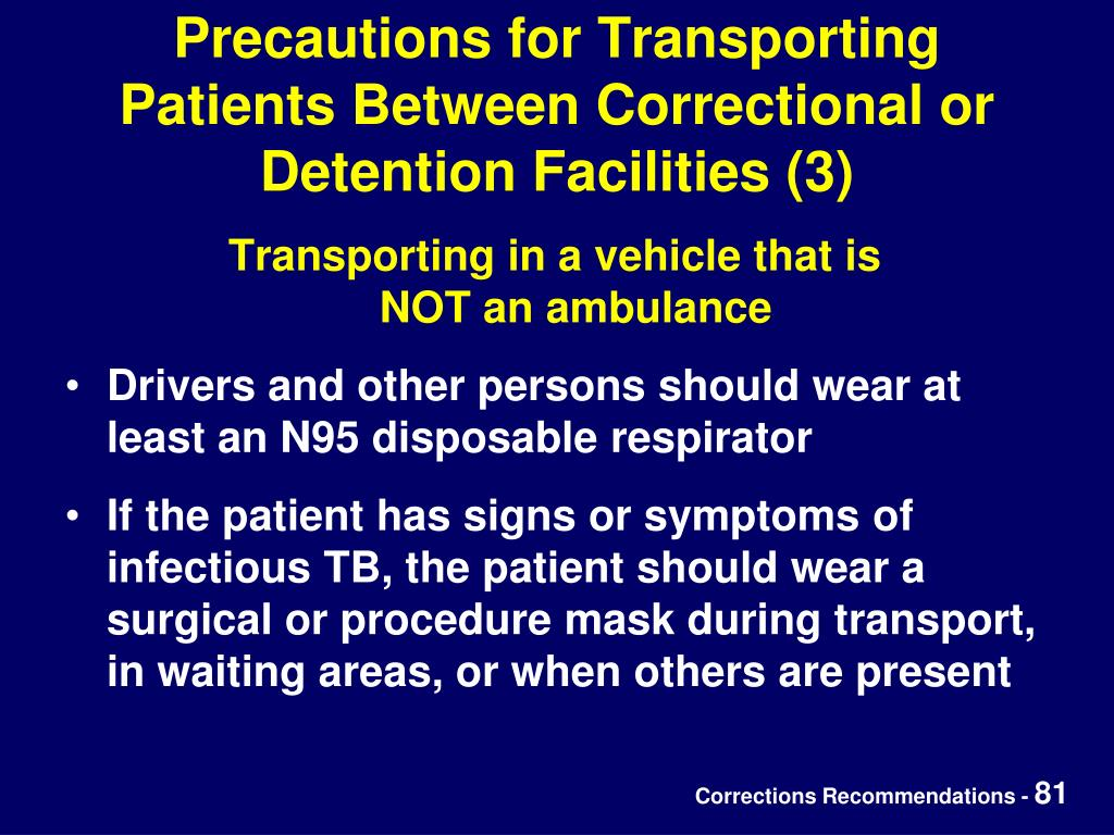 Precautions for Transporting Patients Between Correctional or Detention Facilities (3)