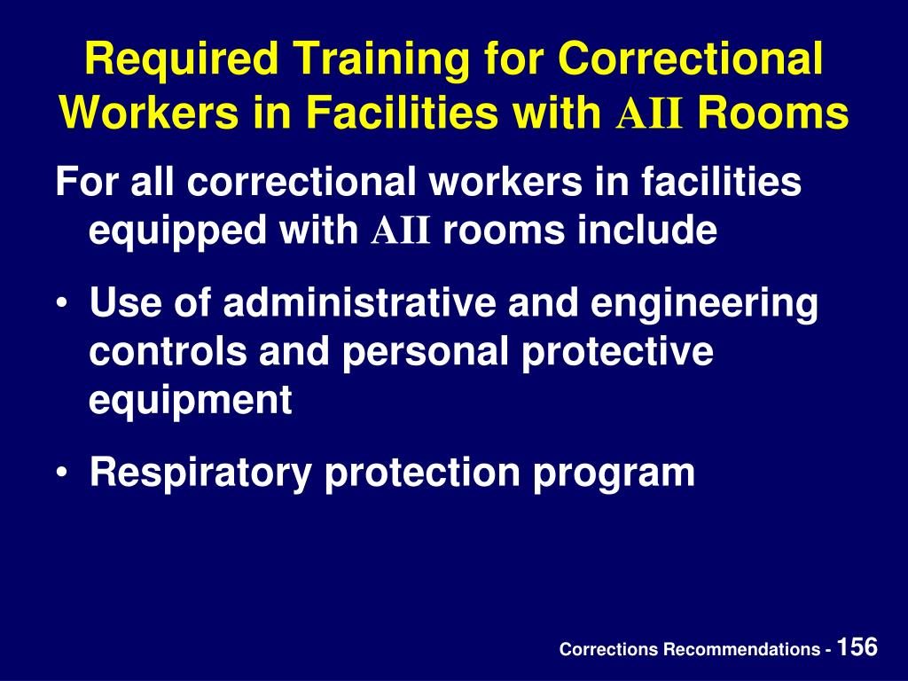 Required Training for Correctional Workers in Facilities with