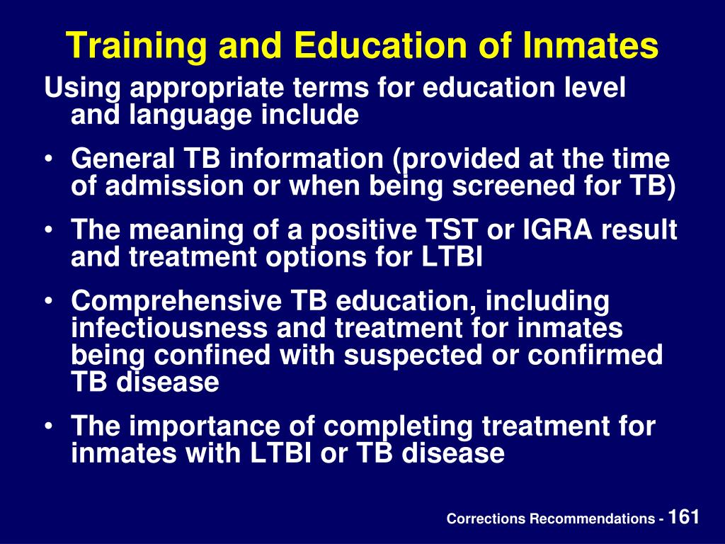 Training and Education of Inmates