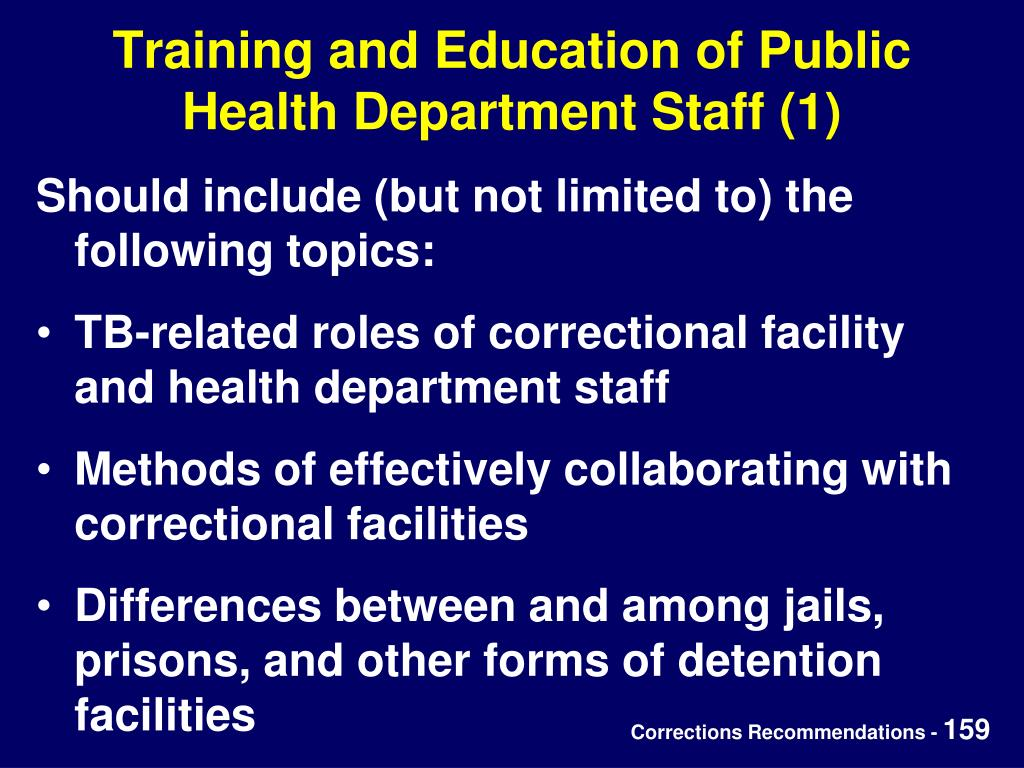 Training and Education of Public Health Department Staff (1)