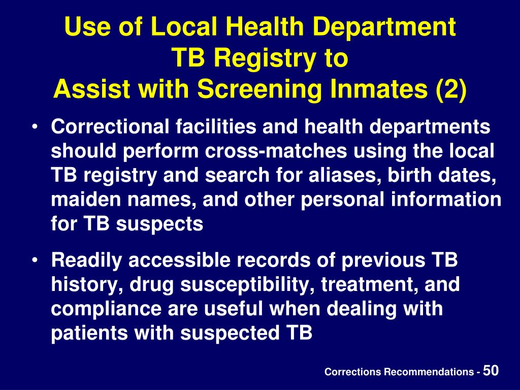Use of Local Health Department