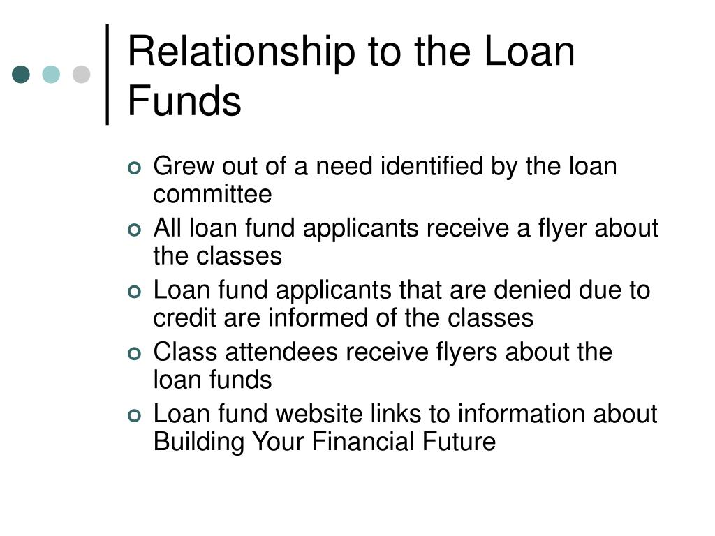 Relationship to the Loan Funds