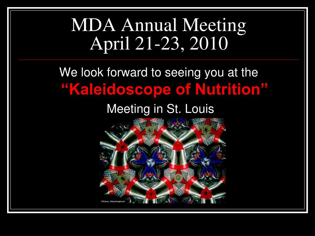 MDA Annual Meeting