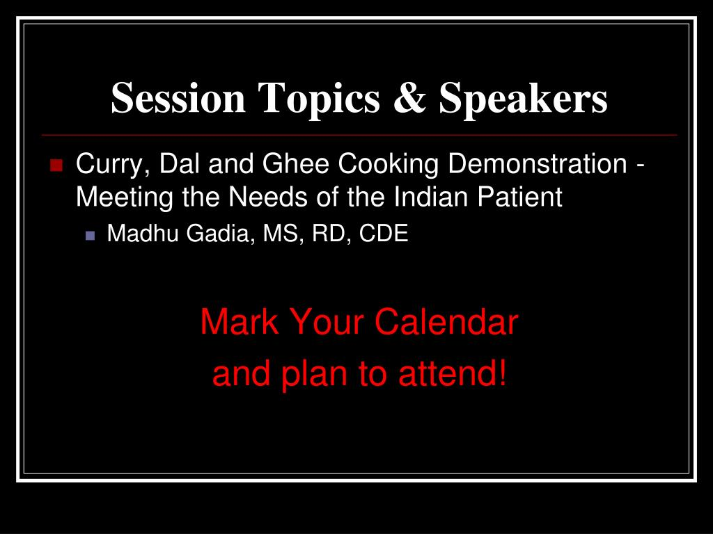Session Topics & Speakers