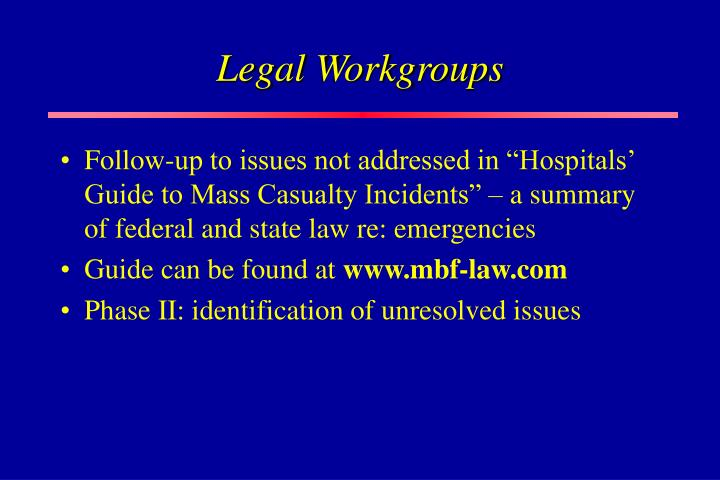 Legal Workgroups