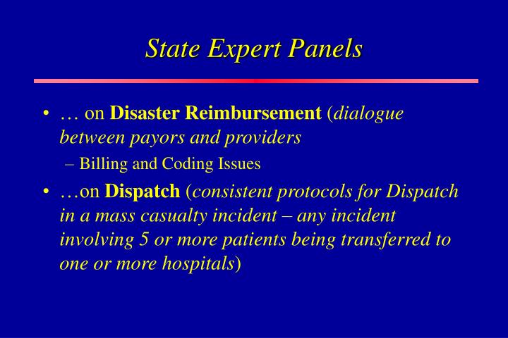 State Expert Panels