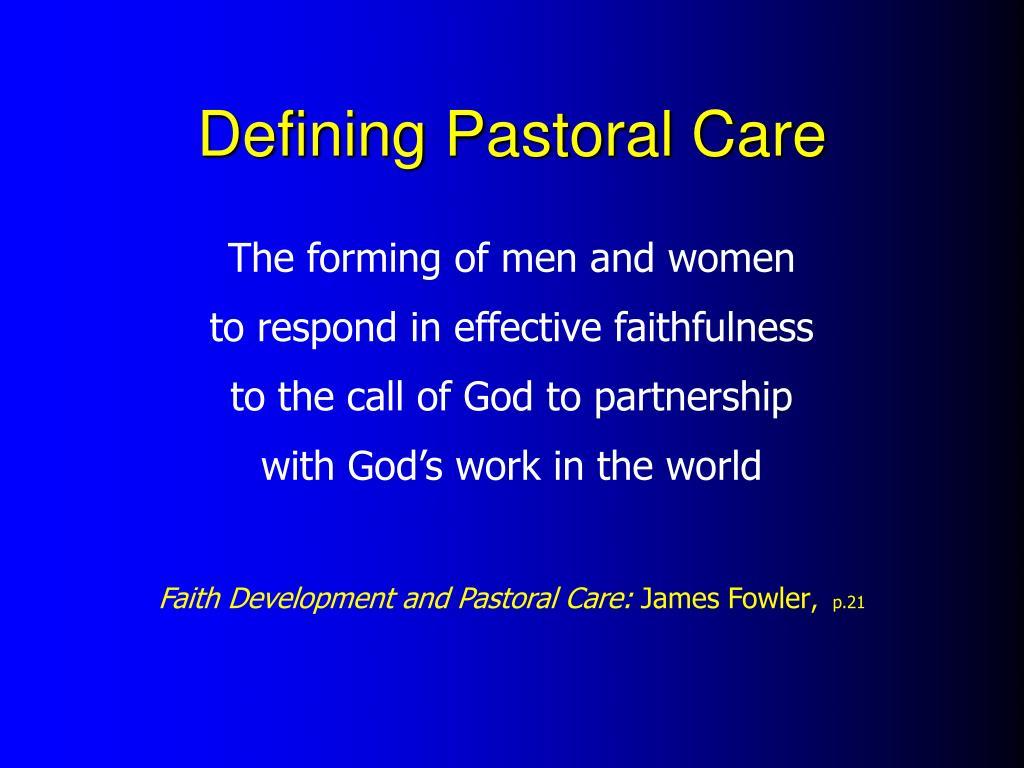 Defining Pastoral Care