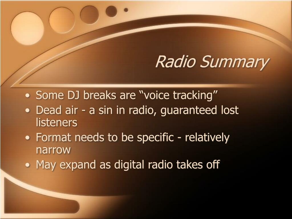 Radio Summary