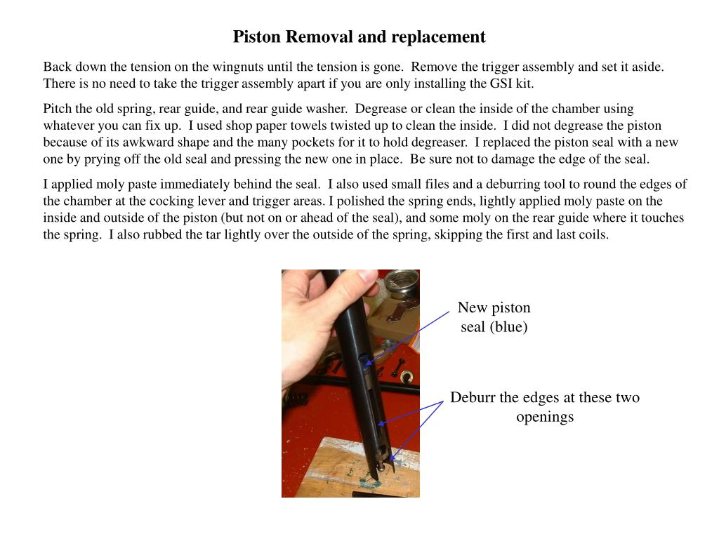 Piston Removal and replacement