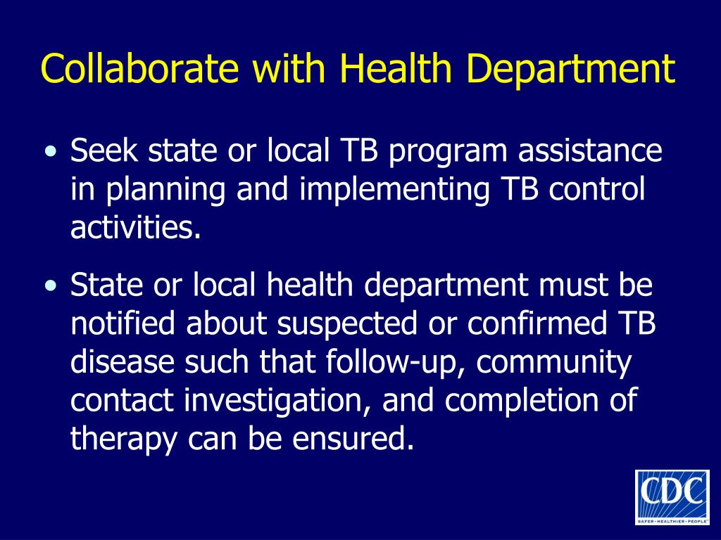 Collaborate with Health Department
