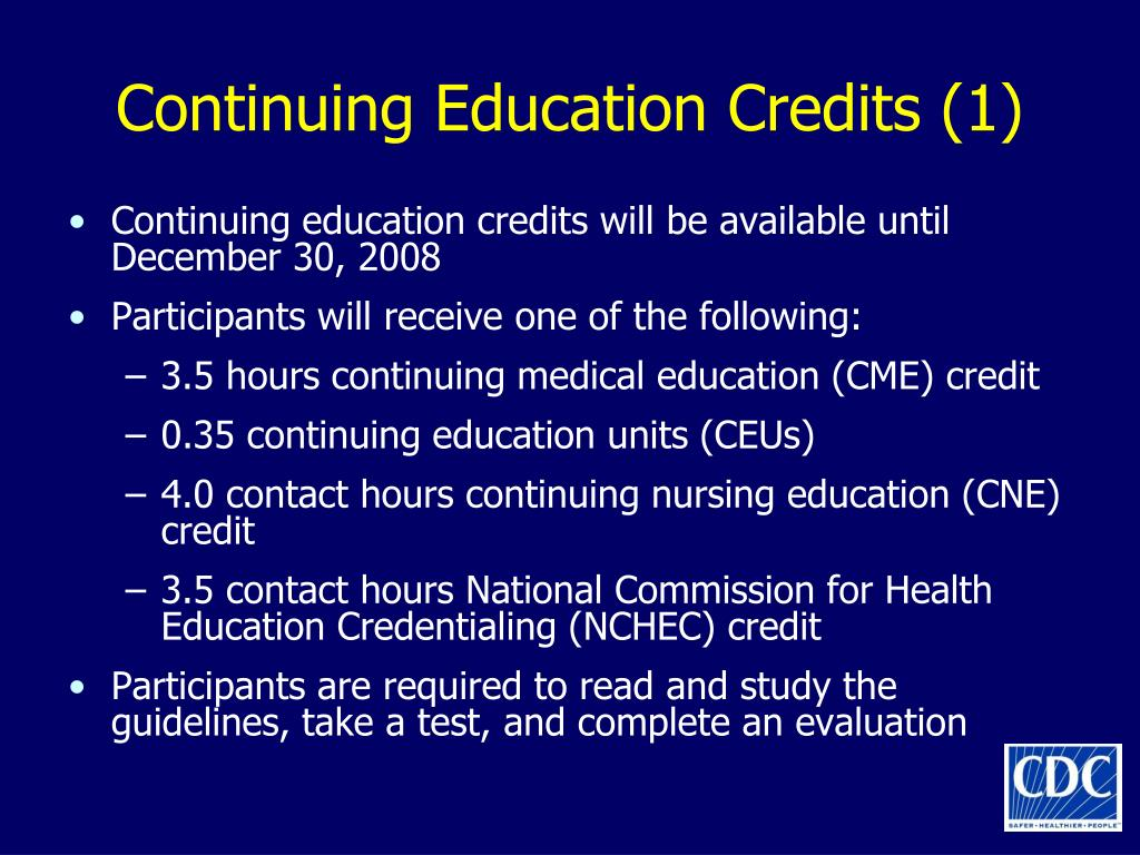 Continuing Education Credits (1)