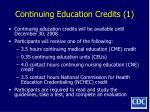 continuing education credits 1