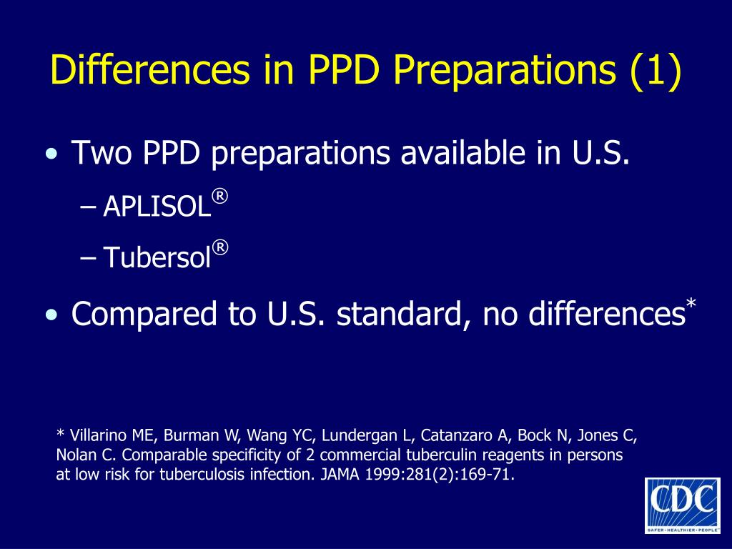 Differences in PPD Preparations (1)