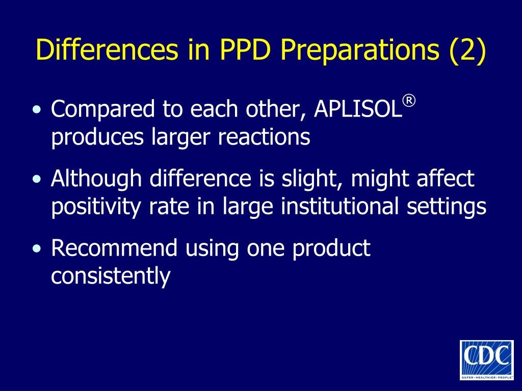 Differences in PPD Preparations (2)