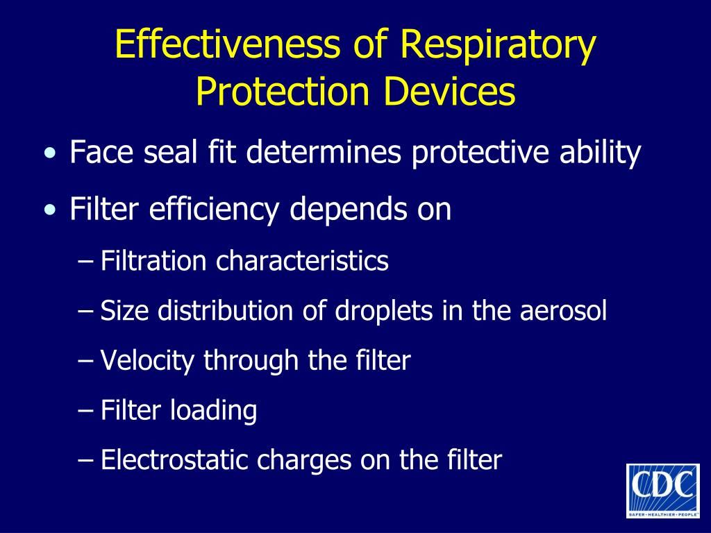 Effectiveness of Respiratory Protection Devices