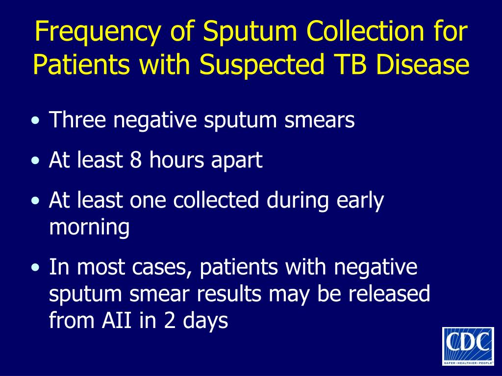Frequency of Sputum Collection for Patients with Suspected TB Disease