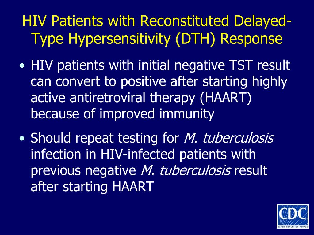 HIV Patients with Reconstituted Delayed-Type Hypersensitivity (DTH) Response