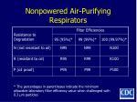 nonpowered air purifying respirators