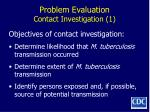problem evaluation contact investigation 1