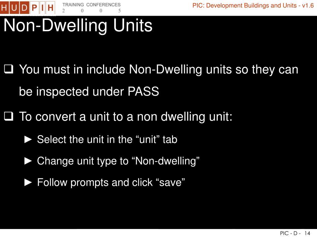 Non-Dwelling Units