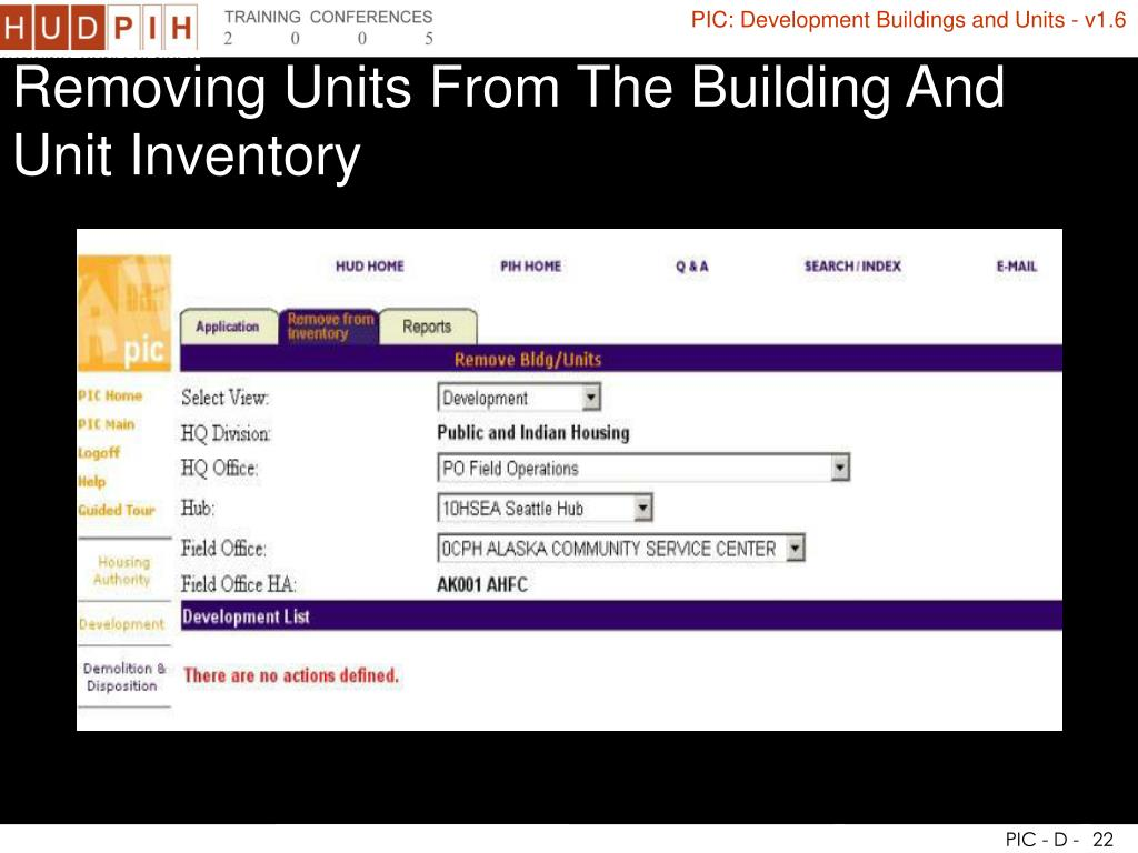 Removing Units From The Building And Unit Inventory