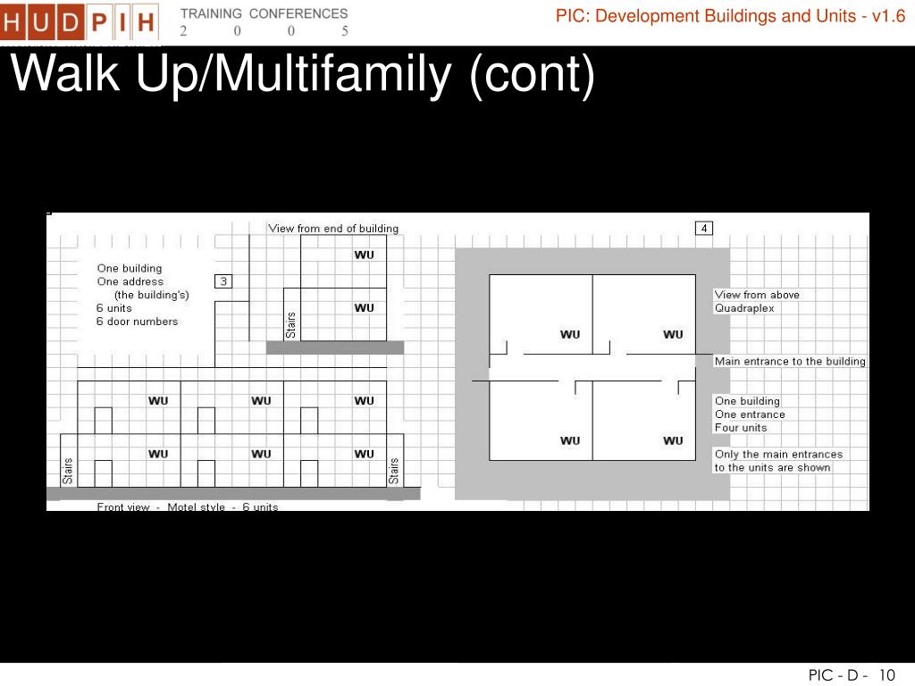 Walk Up/Multifamily (cont)