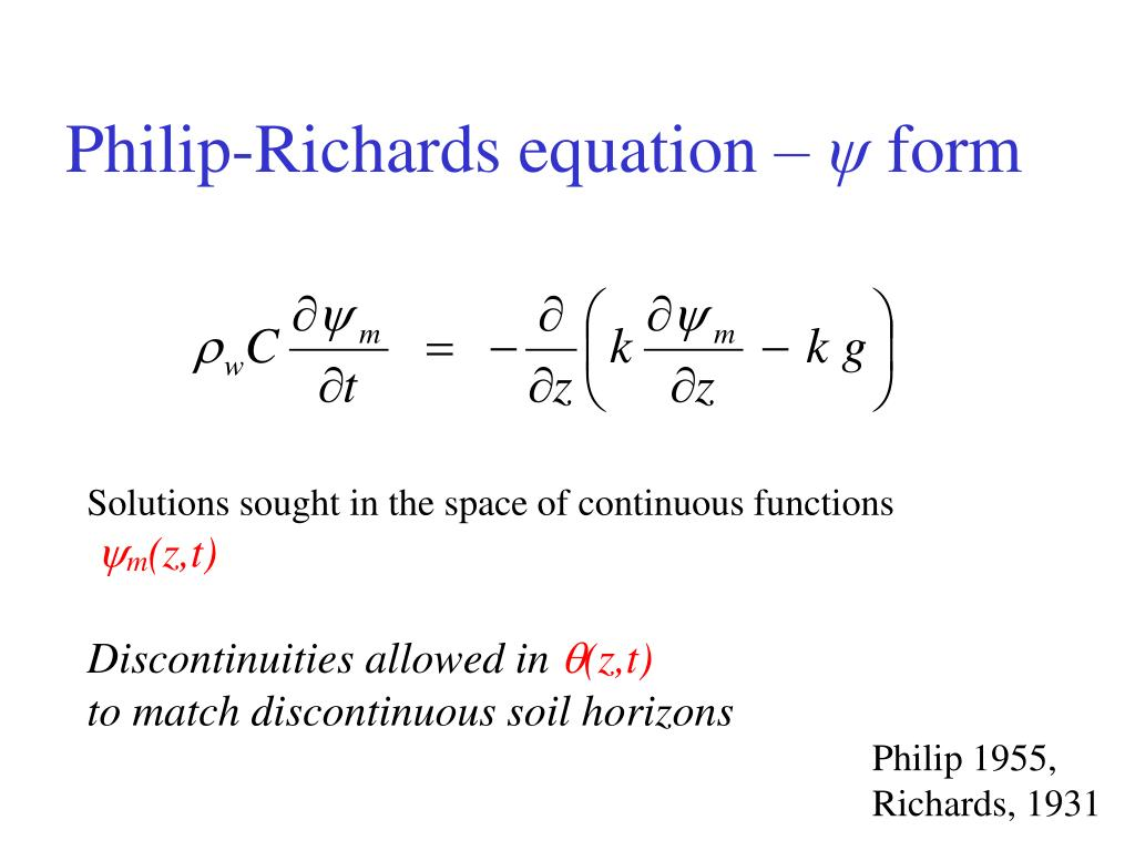 Philip-Richards equation –