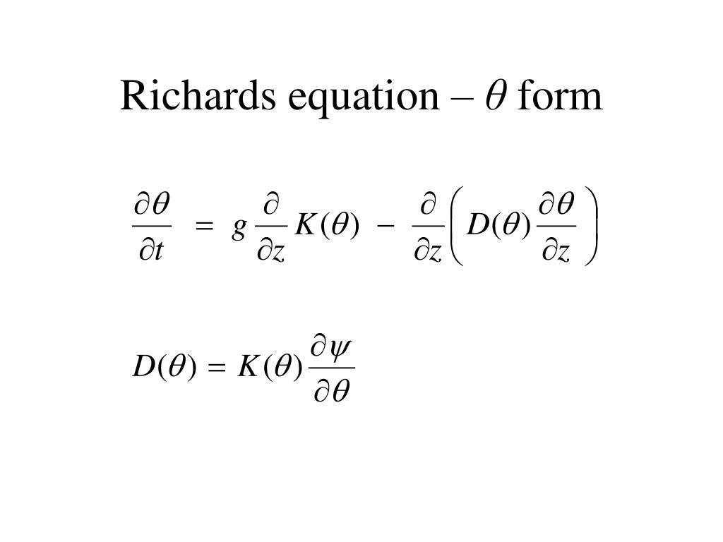 Richards equation –