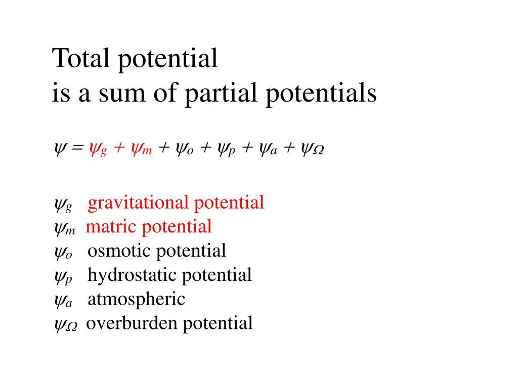 Total potential