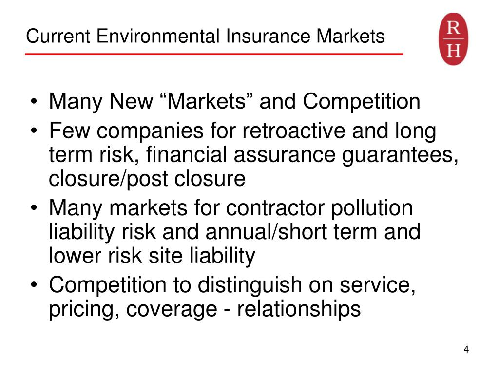 Current Environmental Insurance Markets