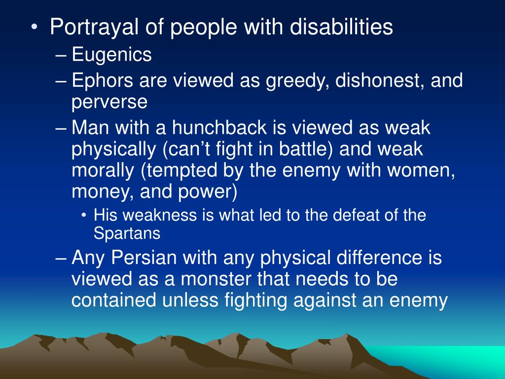 Portrayal of people with disabilities
