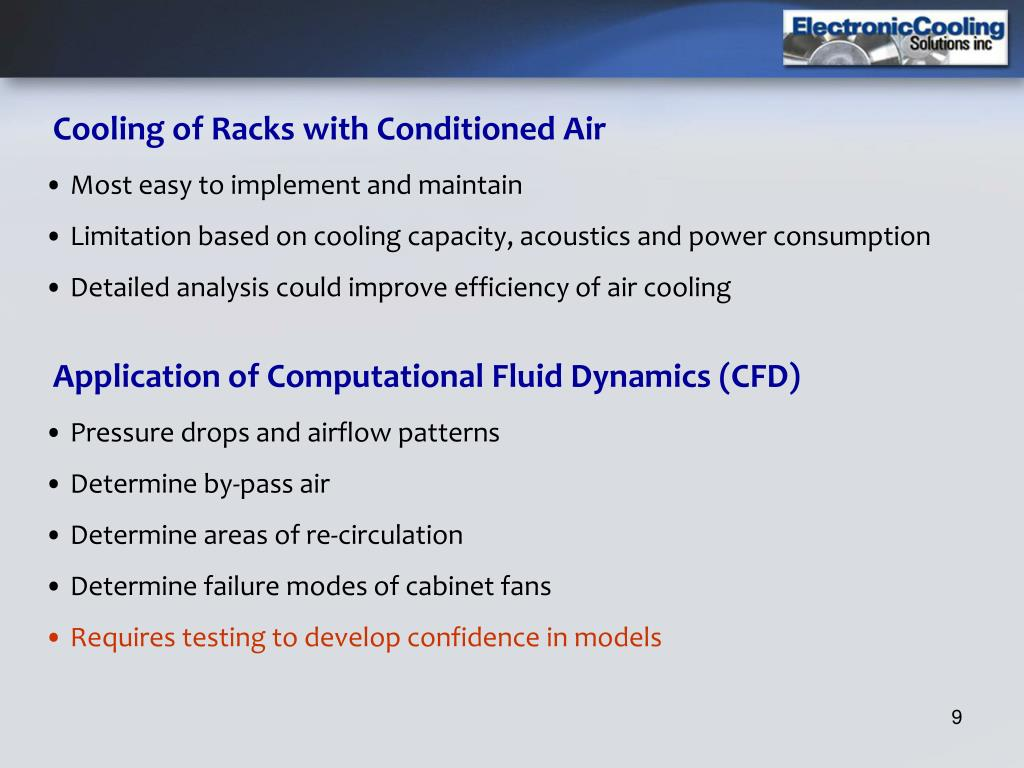 Cooling of Racks with Conditioned Air