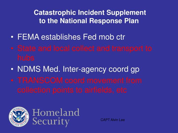 Catastrophic Incident Supplement