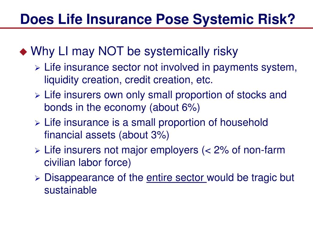 Does Life Insurance Pose Systemic Risk?
