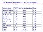 the bailout payments to aig counterparties