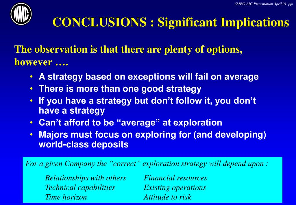 CONCLUSIONS : Significant Implications
