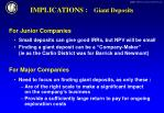 implications giant deposits