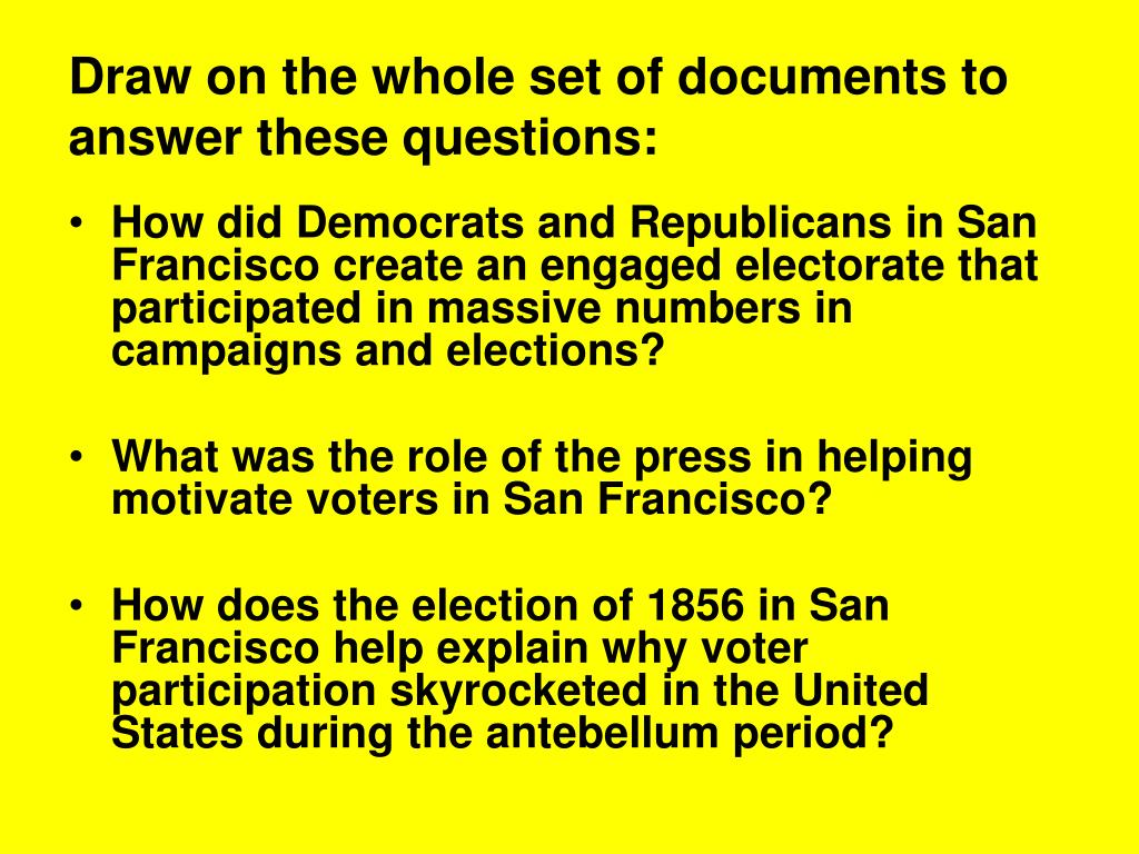 Draw on the whole set of documents to answer these questions: