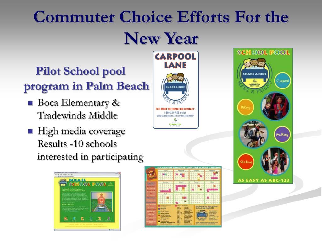 Commuter Choice Efforts For the New Year