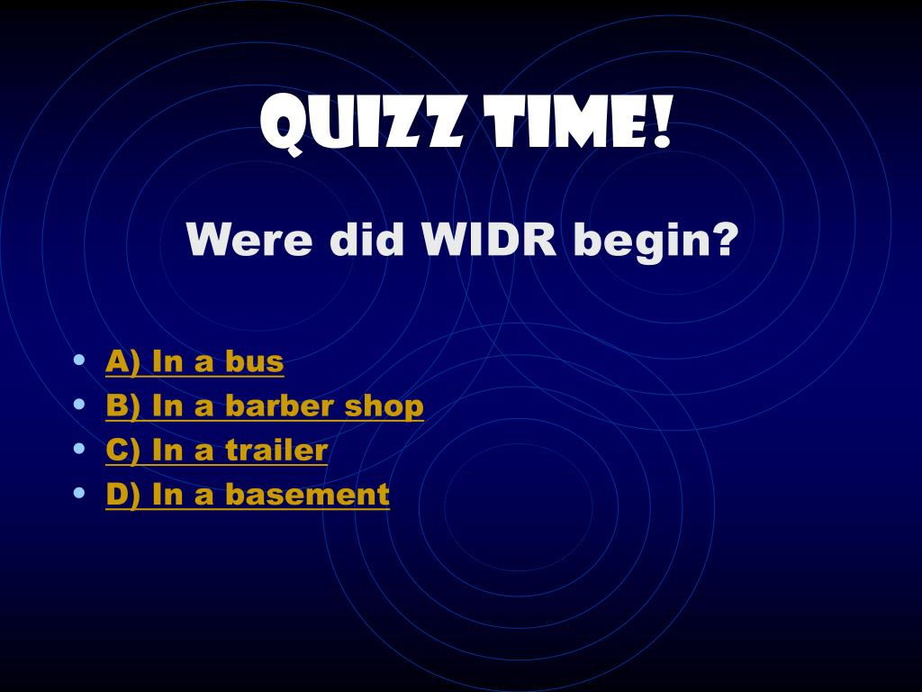 Quizz Time!