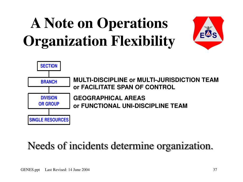 A Note on Operations Organization Flexibility