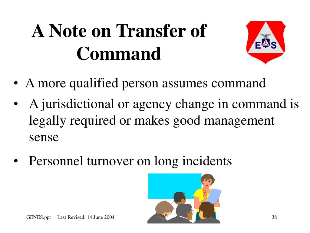 A Note on Transfer of Command