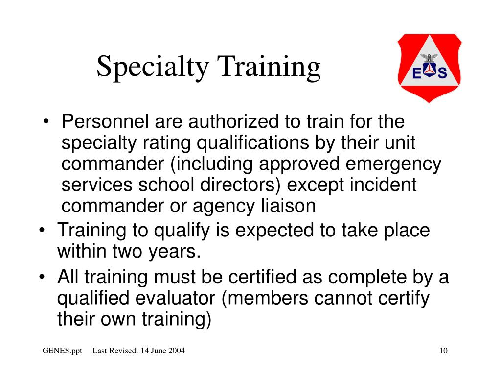 Specialty Training