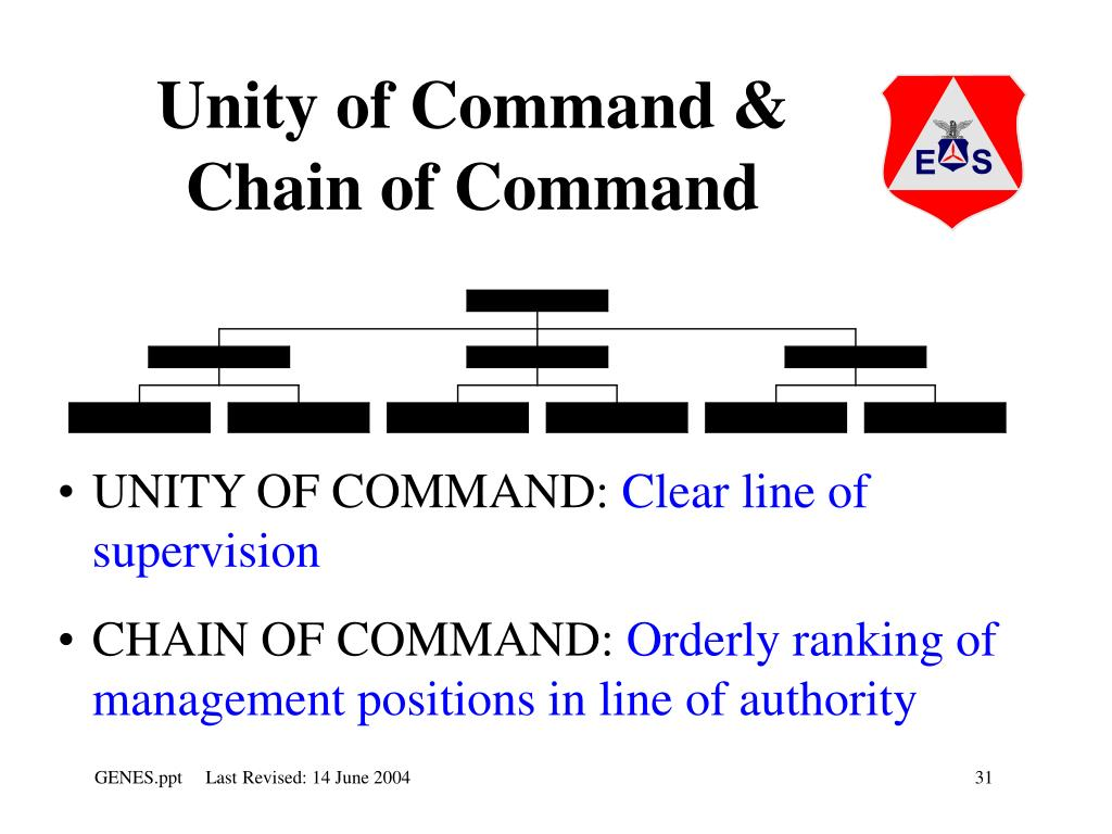 Unity of Command & Chain of Command